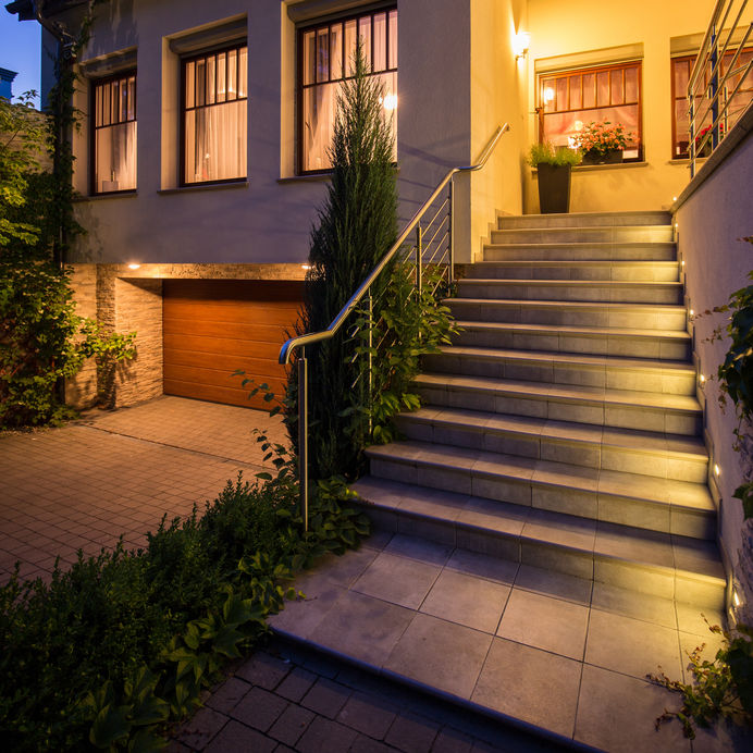 step and exterior lighting for your home