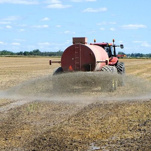 A Picture of a Truck Spraying Hydrogen Sulfide Fertilizer.