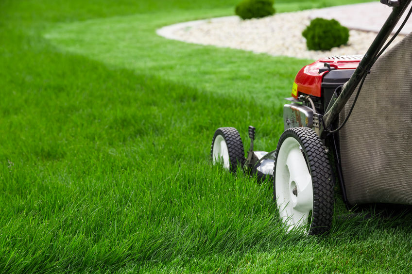 Lawn Care Completed by Mowing the Lawn