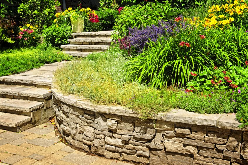 A Picture of Natural Stone Landscaping.