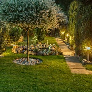 A Picture of Outdoor Lighting in Garden.